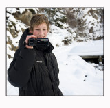 Jonas ( my youngest son) filming me with his new cam.