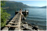 My wife Eva in Valdres