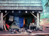 Drying My Stuff Out At Cliff Lake Shelter