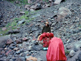 Crossing Boulder Field Near Mt. Hood After  9th Straight Day Of Rain!!