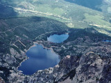 Sardine Lakes As Viewed From Eagle Roost Lookout ( Atop Sierra Buttes, 8,587 ft. )