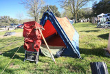 San Diago Truckers Original Snow Lion Tent And Mark's Kelty Pack