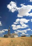 Puff Cloud Skies  Over Douglas County Wheatland