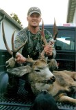 Tanner Mitchell With HIs 3 x 4 Buck Taken WIth Bow And Arrow