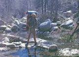 Standing Across  Holcomb Creek , Southern PCT