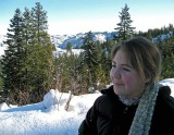 Daughter Angela Enjoying The View  , With New Scarf She Made