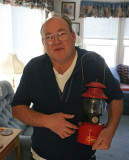 Collector Dick Morgan With HIs MInt  Black Collar  1952 200a