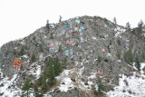 Winter At  Numberal Rock  Over Town Of Entiat
