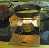 Sterno Stove Used With Alcohol Burner Is A Great Cheap Combo