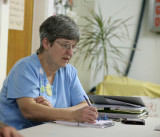 Phyllis Griffith Takes Notes  At Monthly Meeting ( Third Wedsday Of Each Month )
