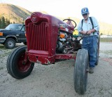 OLd Time Local  Grant Roundy  With HIs 1953 Ford Tractor