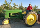Chuck Of   Orondo Cider Works  Gives Talk On His 1944  Model B  Tractor