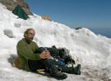 Me kicking back and resting at Ingram Flats After Summiting