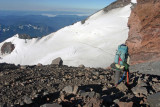 Deems Looking Down On Camp Muir During Our Decent