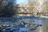 Little Wooden Bridge Over Entiat  River ( Destroyed Dec. 2006)