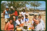 Weldon  PCT  Thru- Hikers enjoy feast after finishing 540 miles