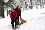 Tiff ,James and snow dogs