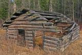 Old Log Cabin in Washington Ghost Town