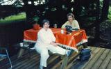 Mom and Aunt Aileen visiting in Tenino ( Early 80's)