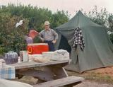 Grampa ( Earl) Dodge Camping at Ocean Shores, 1964)