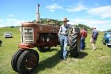 Farmall 350 Tractor and Owner