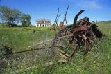 Vacant Farm House and Old Machinery
