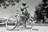 My Bike Next To Bronze Man In Wenatchee Park