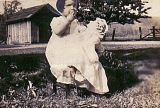 Mom ( Jann )  1940 with doll in town of Riffe