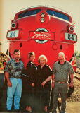 Jason , Tonya, Mom and Dad with Dinner Train Engine. ( ( Old F Unit)