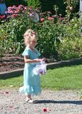 Flower Girl Leads Way With Rose Peddles