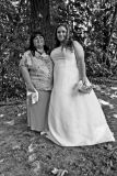Gurine With  Her Mom On Wedding Day