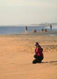 Girl  Modeling On Todos Santos Beach