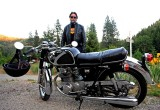 Entiat Local WIth  1969 Honda 350  Cafe Racer