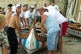 Crew at a traditional regatta, Valletta