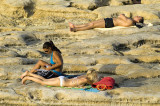Sunbathing at Sliema