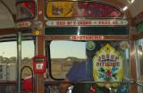 Malta: Inside a typical Maltese bus