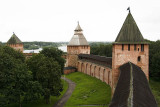 Kremlin walls overlook the Volkhov River