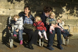 Minding the kids, Winchcombe, Cotswolds