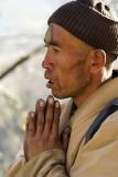 Buddhist pilgrim at Wutai, China