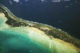 Approaching Tarawa Atoll