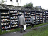 Browsing at the castle, Hay-on-Wye [BJG]