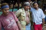 Young men at White River market, Honiara
