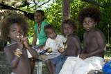 Children in rural Guadalcanal