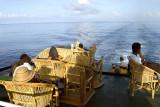 At ease aboard the Bikoi