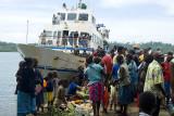 Disembarking from the Bikoi at Seghe