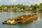 Rusting landing craft (?) in Auki harbour