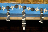Cowrie shells add a feminine touch
