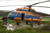 MI-8 helicopter in Nalychevo Nature Park