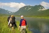Exploring the head of Russkaya Bay