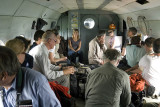 Inside the MI-8 helicopter